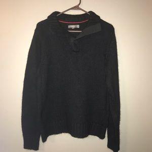 Fossil Men's Sweater M Color Black Button up